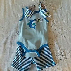 Baby Gear Shark 3-piece summer outfit